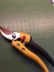 Trädgårdsverktyg, sekatör